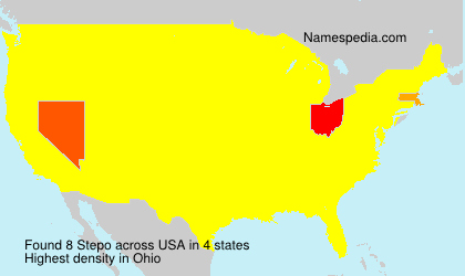Surname Stepo in USA