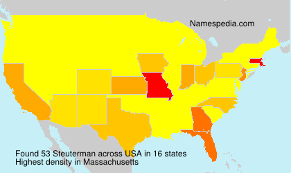 Surname Steuterman in USA