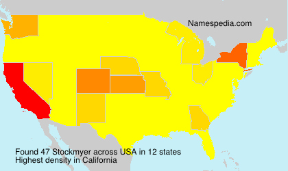 Surname Stockmyer in USA