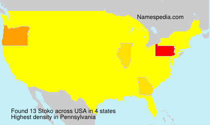 Surname Stoko in USA