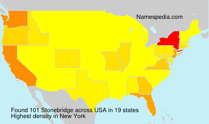 Surname Stonebridge in USA