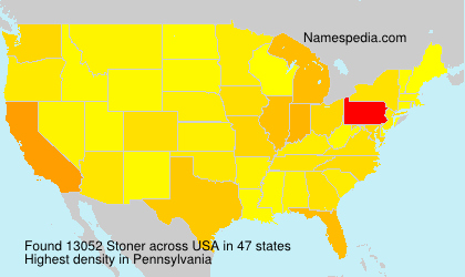 Surname Stoner in USA