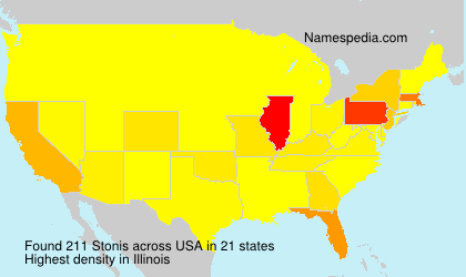 Surname Stonis in USA