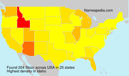 Surname Stoor in USA