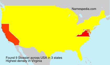 Surname Stossier in USA