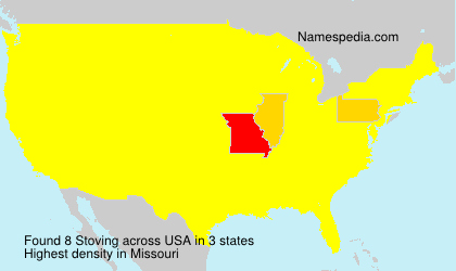Surname Stoving in USA