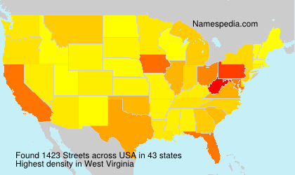 Surname Streets in USA