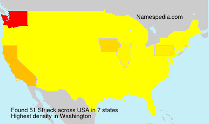 Surname Strieck in USA