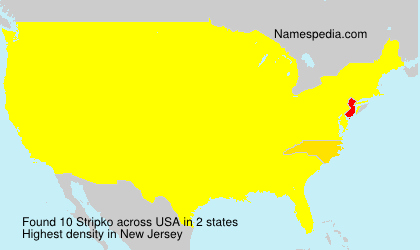 Surname Stripko in USA
