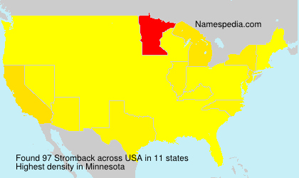 Surname Stromback in USA