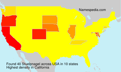 Surname Stuelpnagel in USA
