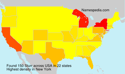 Surname Sturr in USA