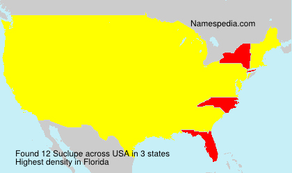 Surname Suclupe in USA