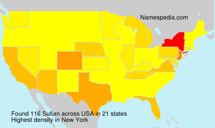 Surname Sufian in USA