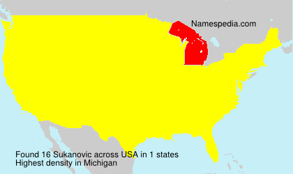 Surname Sukanovic in USA