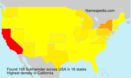 Surname Sukhwinder in USA