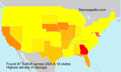 Surname Sulhoff in USA