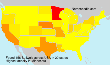 Surname Sullwold in USA