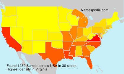 Surname Sumler in USA