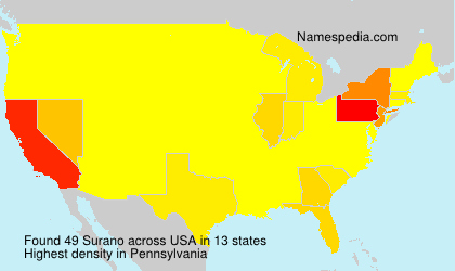 Surname Surano in USA