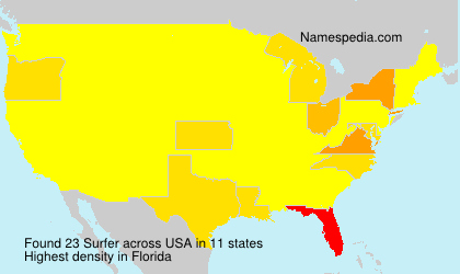 Surname Surfer in USA