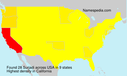 Surname Surjadi in USA