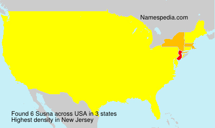 Surname Susna in USA