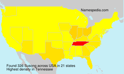 Surname Susong in USA