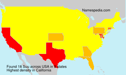 Surname Suu in USA