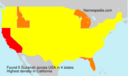 Surname Suzanah in USA