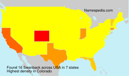 Surname Swanback in USA
