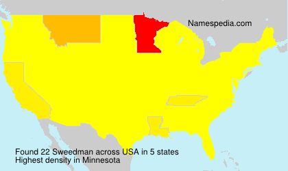 Surname Sweedman in USA