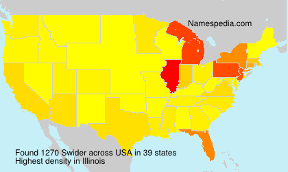 Surname Swider in USA