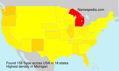 Surname Sype in USA