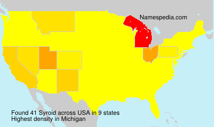 Surname Syroid in USA