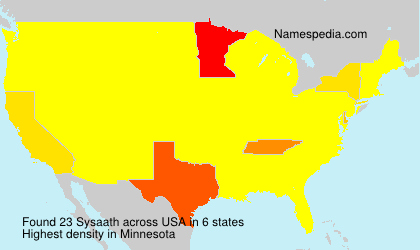 Surname Sysaath in USA