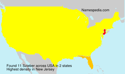 Surname Szieber in USA