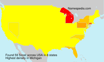Surname Szost in USA
