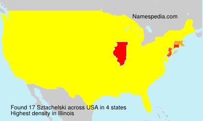 Surname Sztachelski in USA