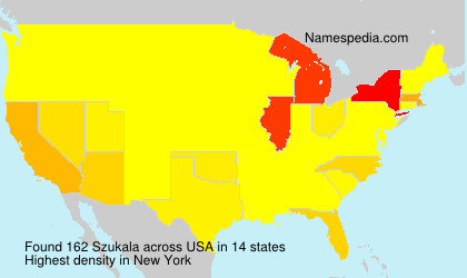 Surname Szukala in USA