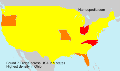 Surname Tadge in USA