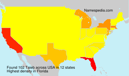 Surname Taieb in USA