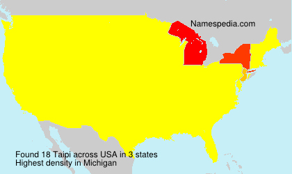 Surname Taipi in USA