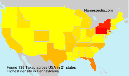 Surname Takac in USA