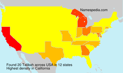 Surname Talibah in USA