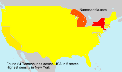 Surname Tamoshunas in USA