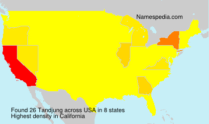 Surname Tandjung in USA