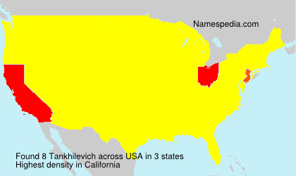Surname Tankhilevich in USA