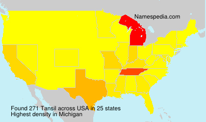 Surname Tansil in USA