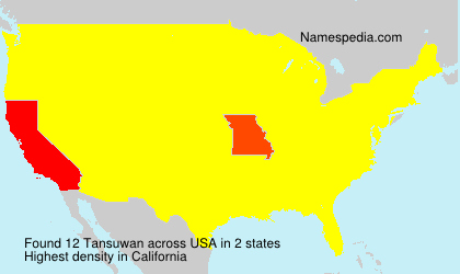 Surname Tansuwan in USA